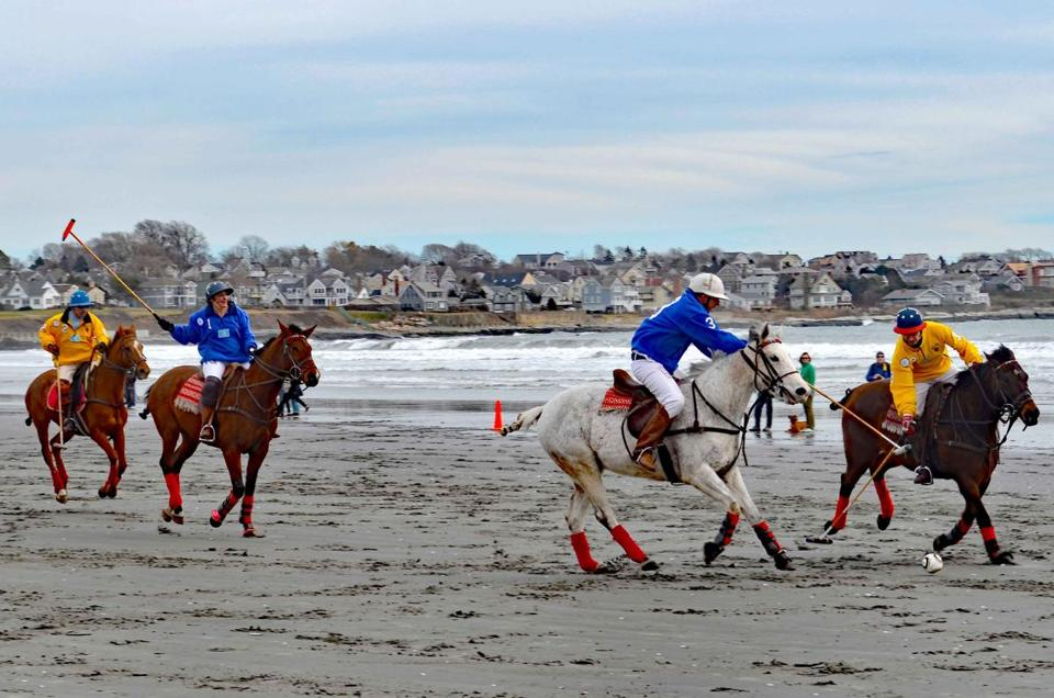Beach polo is one of the highlights of the Newport, R.I., Winter Festival.